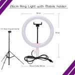 26cm ring light with or without tripod stand